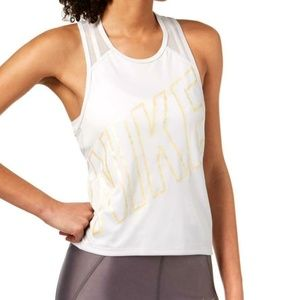 new NIKE XL yoga running tank top DRI FIT white